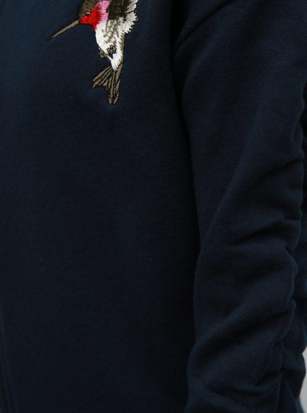 Modrá dievčenská mikina s výšivkou Name it