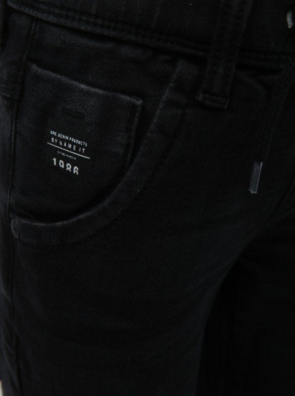 Čierne chlapčenské nohavice s elastickým pásom Name it
