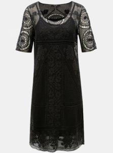 Čierne čipkované šaty Yest