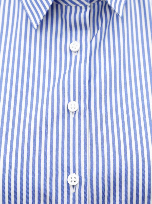 b1c00846297d Bielo-modré voľné košeľové šaty VAVI