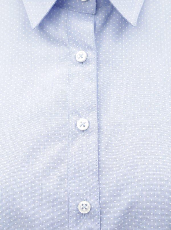 478e72b7a44e Svetlomodrá dámska bodkovaná košeľa VAVI
