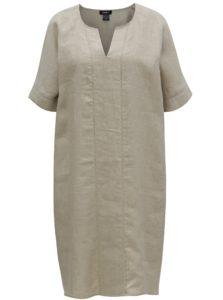 Béžové ľanové šaty DKNY