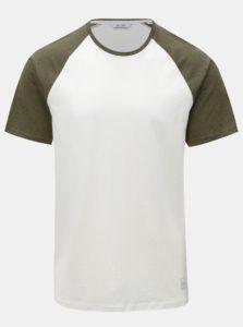 Zeleno-biele tričko s krátkym rukávom ONLY & SONS