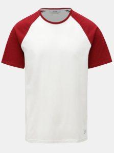 Červeno-biele tričko s krátkym rukávom ONLY & SONS