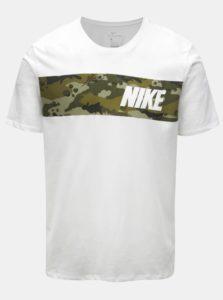 Biele pánske funkčné tričko Nike Block Camo
