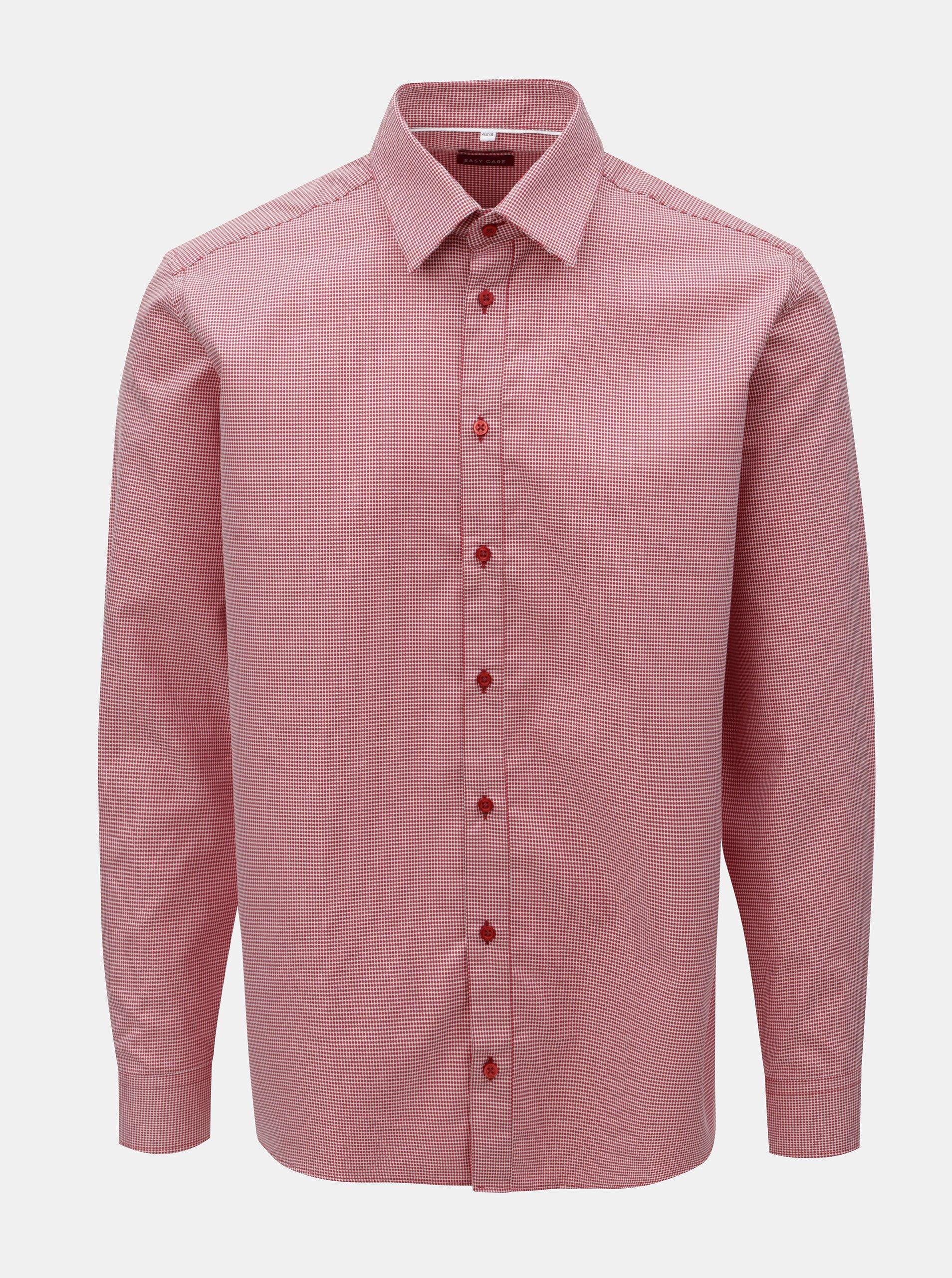 52cabc696 Červená pánska vzorovaná košeľa s dlhým rukávom VAVI | Moda.sk