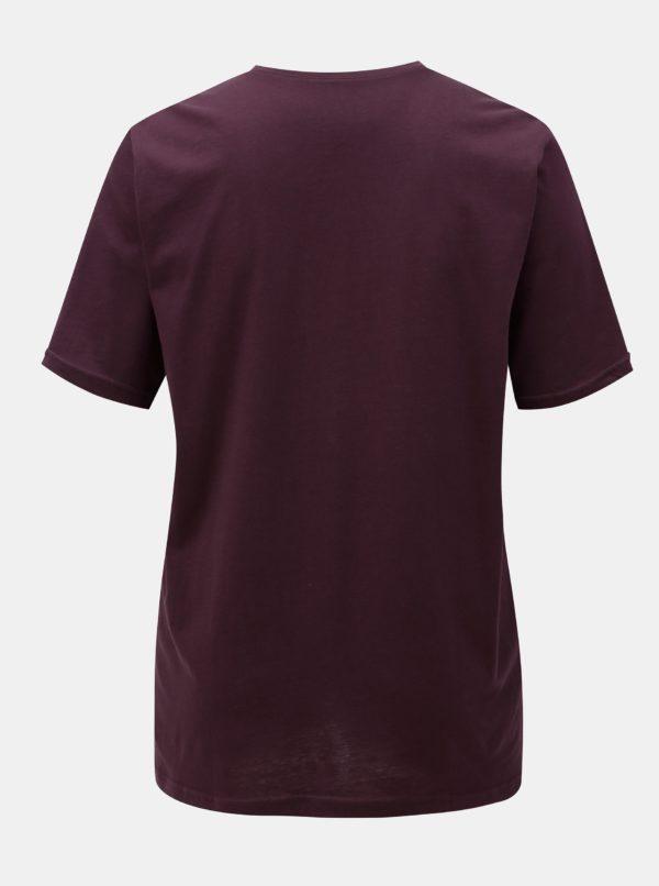 Fialové basic tričko Ulla Popken