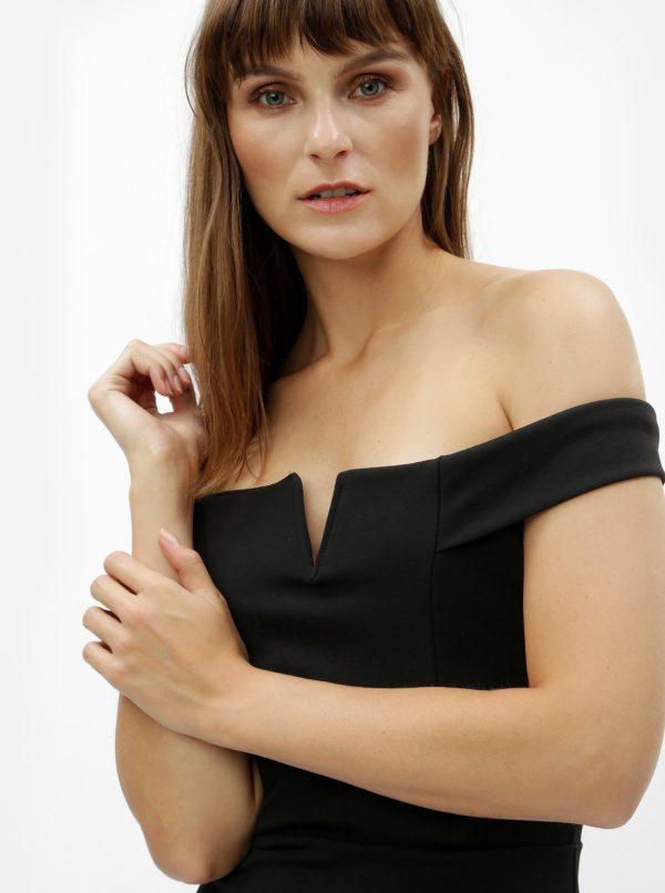 Čierne puzdrové šaty s odhalenými ramenami MISSGUIDED  6f2cf7fcaad
