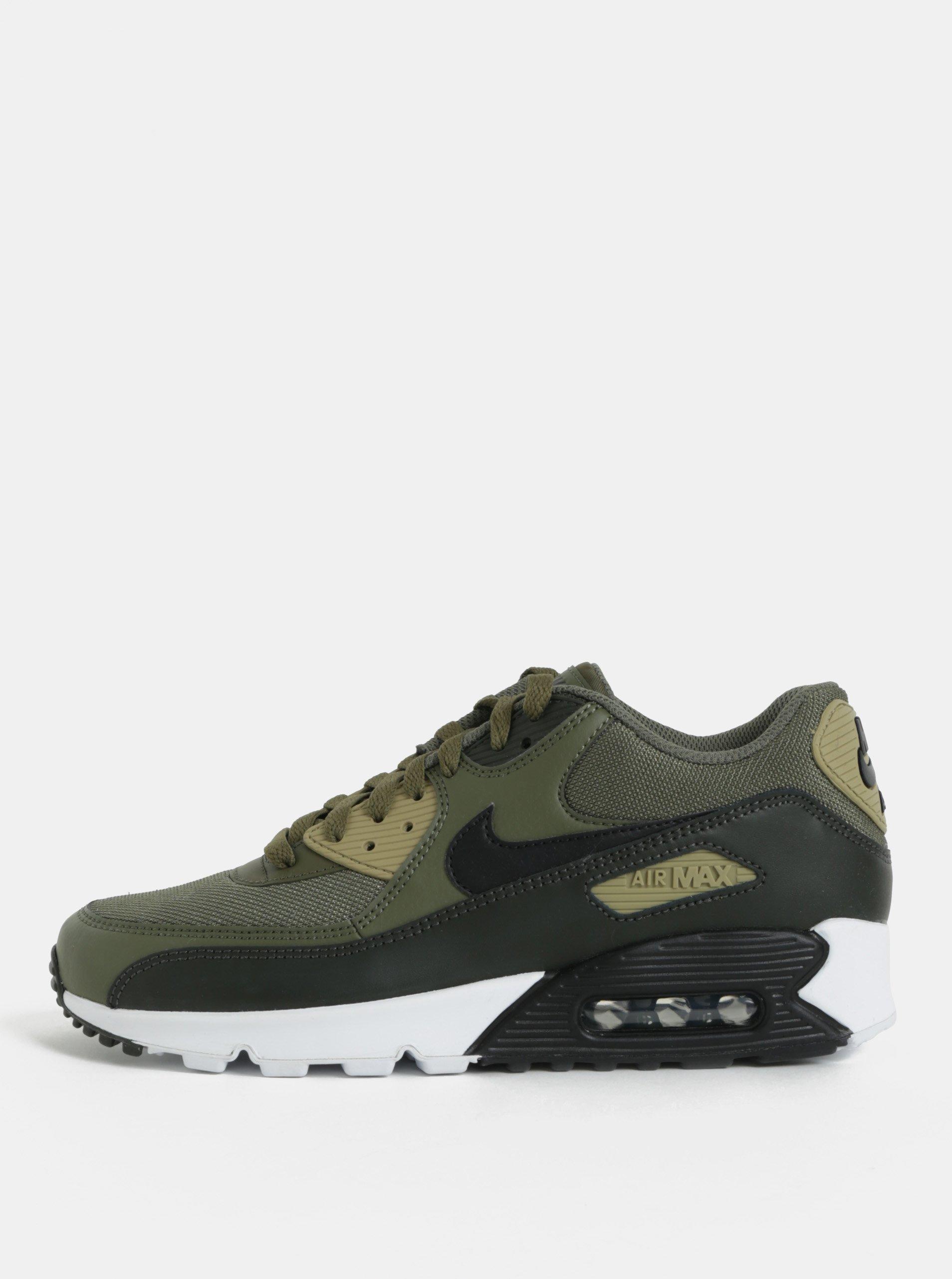 Kaki pánske kožené tenisky Nike Air Max  90 Essential  6ecea9658f
