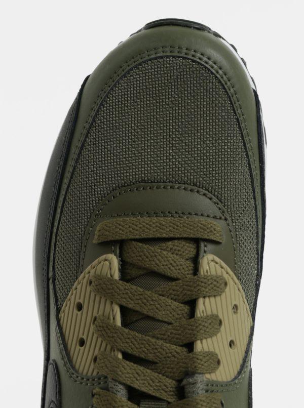 Kaki pánske kožené tenisky Nike Air Max  90 Essential  0e9a46b013f