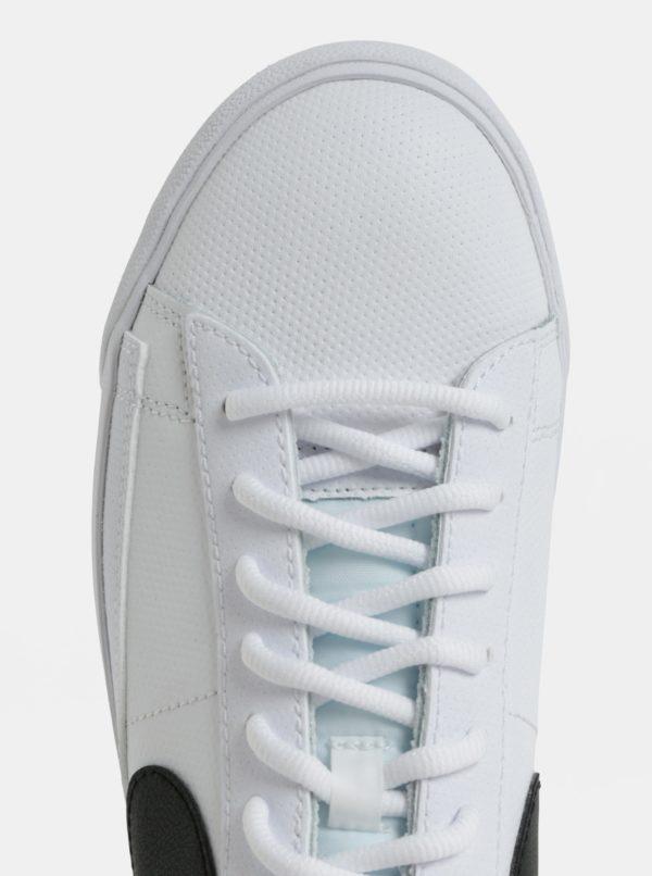 75fa0abdd096 Biele pánske kožené tenisky Nike Blazer Low