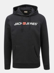 Čierna mikina s potlačou a kapucňou Jack & Jones Corp