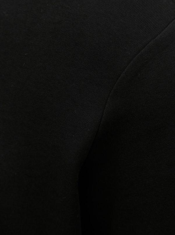 Čierna tenká mikina s dlhým rukávom Jack & Jones Holmen