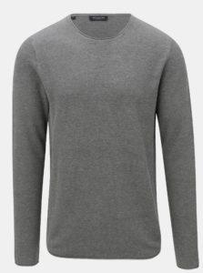 Sivý sveter s okrúhlym výstrihom Selected Homme Rocky