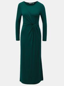 Zelené maxišaty s dlhým rukávom Dorothy Perkins Petite