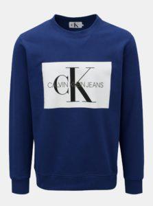 Modrá pánska mikina Calvin Klein Jeans