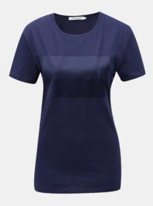 Modré dámske tričko s potlačou Calvin Klein Jeans
