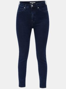 Modré dámske skinny rifle s vysokým pásom Calvin Klein Jeans