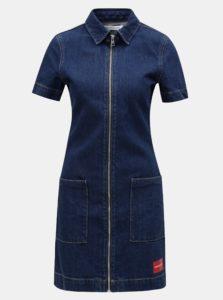Modré rifľové šaty Calvin Klein Jeans