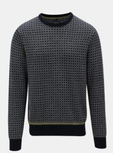 Krémvo-modrý regular sveter Blend