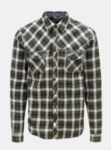 Krémovo-zelená regular košeľa Blend