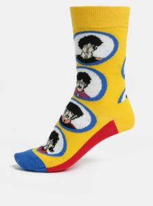 Červeno–žlté unisex ponožky Happsy Socks Beatles Submarine Sock