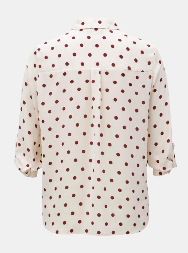 Svetloružová košeľa s bodkami Dorothy Perkins Petite