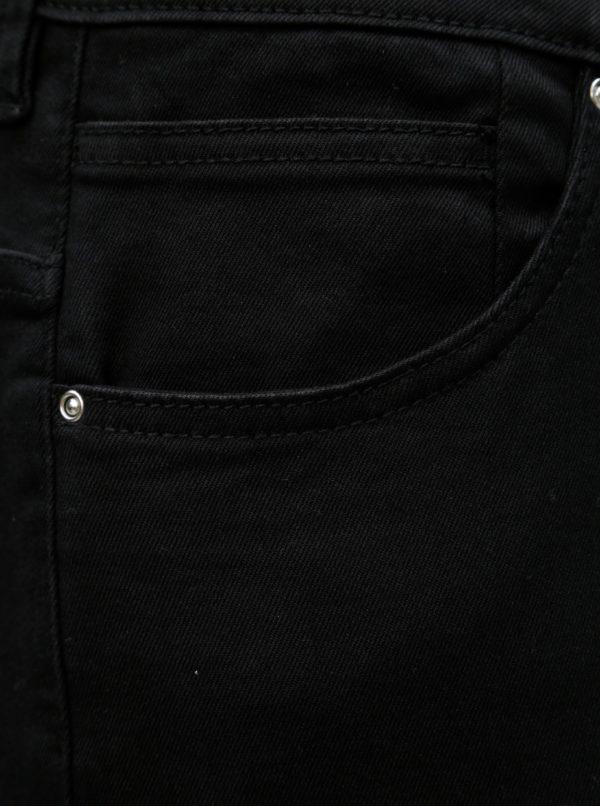 Čierne slim rifle s vysokým pásom Zizzi