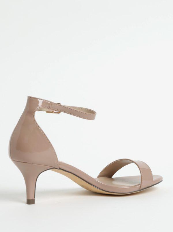 Béžové sandálky na ihlovom podpätku Dorothy Perkins