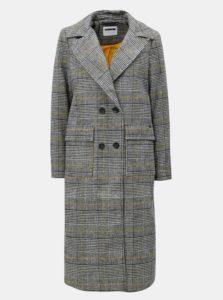 Bielo-sivý károvaný kabát Noisy May