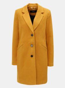 Horčicový kabát s vreckami VERO MODA