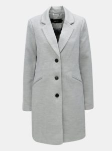 Svetlosivý kabát s vreckami VERO MODA