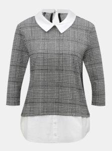 8a4f5b02f6 Krémovo-čierne tričko so všitým košeľovým dielom ONLY Selma