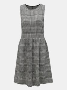 Sivo-čierne vzorované šaty ONLY Vigga