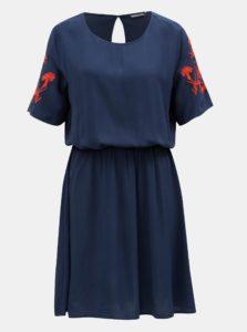 Červeno-modré šaty s výšivkou Jacqueline de Yong Eskild
