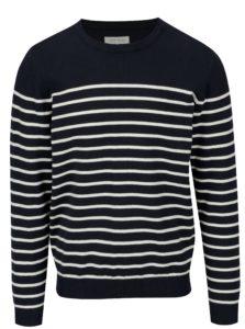 Tmavomodrý pruhovaný sveter Casual Friday by Blend