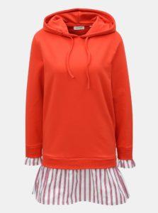 Červené mikinové šaty s kapucňou Rich & Royal