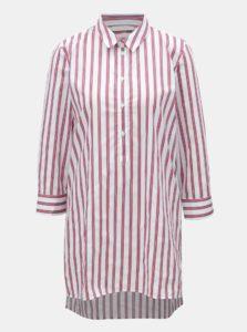 Červeno–biela pruhovaná košeľa s rozparkami Rich & Royal