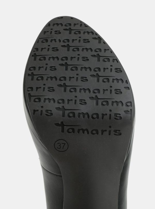 Čierne lodičky na vysokom podpätku Tamaris  23dd56aeb2