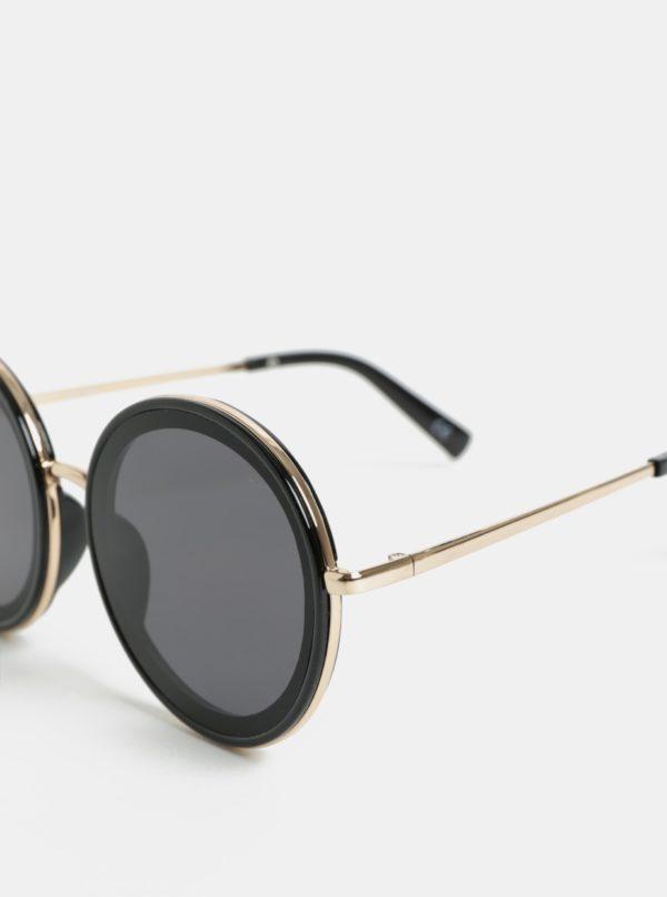 Čierne dámske okrúhle slnečné okuliare Jeepers Peepers  8903281a29b