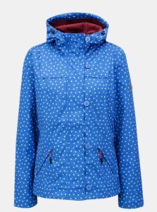 Modrá vzorovaná vodovzdorná bunda Blutsgeschwister