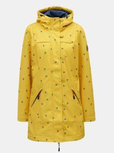 Žltá dlhá vzorovaná vodovzdorný bunda Blutsgeschwister