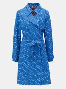 Modrý vzorovaný kabát s opaskom Blutsgeschwister