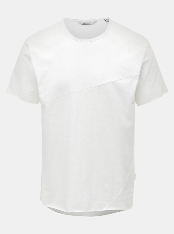 Biele melírované tričko ONLY & SONS Stewie