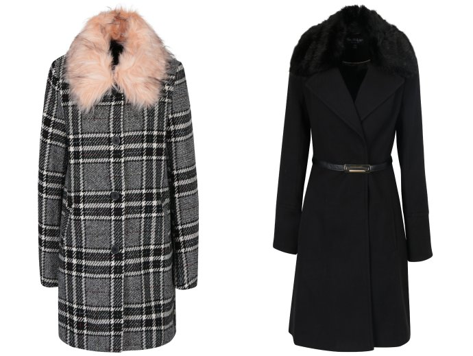 Dámske jesenné kabáty s kožušinou  9036d2189ec
