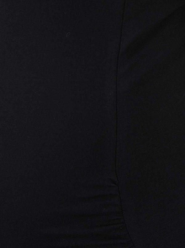 Kolekcia dvoch tehotenských tielok v čiernej a krémovej farbe Mama.licious Lea