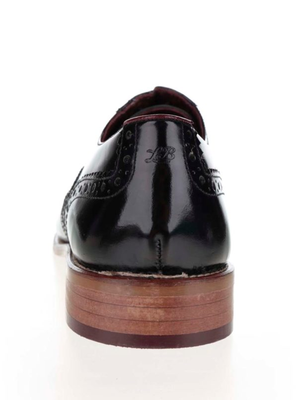 Čierne pánske kožené poltopánky London Brogues Gatsby