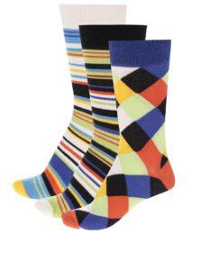 Súprava troch pánskych farebných vzorovaných ponožiek Oddsocks Dylan