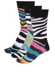 Súprava troch pánskych zebrovaných ponožiek Oddsocks Josh