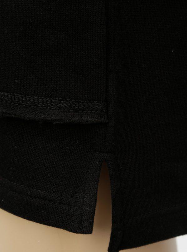 Čierna chlapčenská mikina so sťahovacou kapucňou Blue Seven
